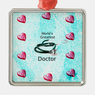 World's Greatest Doctor Professions Collection Metal Ornament
