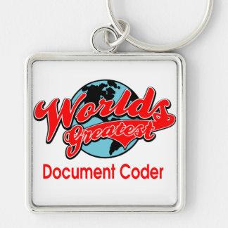 World's Greatest Document Coder Keychain
