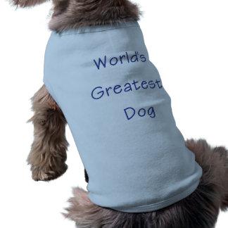 World's Greatest Dog (blue) Pet Shirt