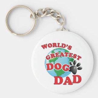 World's Greatest Dog Dad Paw Print Keychain