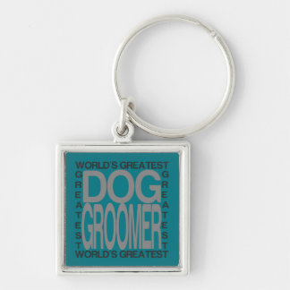 Worlds Greatest Dog Groomer Keychain