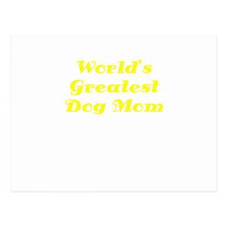 Worlds Greatest Dog Mom Postcard