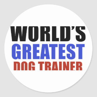 World's greatest Dog trainer Classic Round Sticker