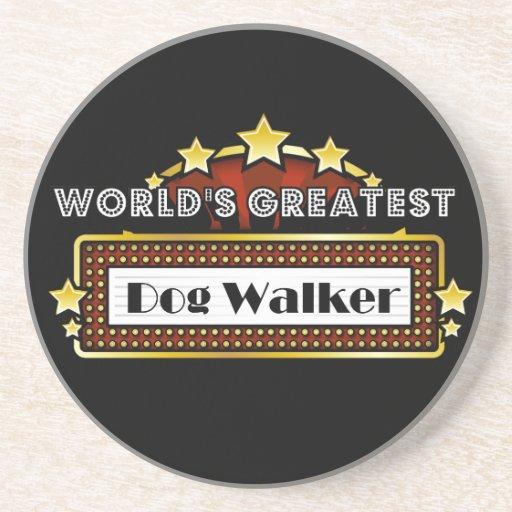 World's Greatest Dog Walker Beverage Coaster