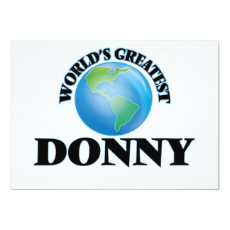 World's Greatest Donny Announcement