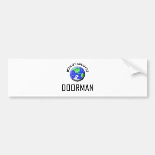 World's Greatest Doorman Bumper Sticker