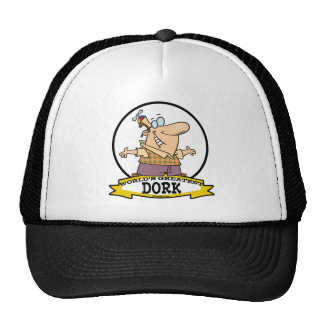 WORLDS GREATEST DORK II CARTOON TRUCKER HAT