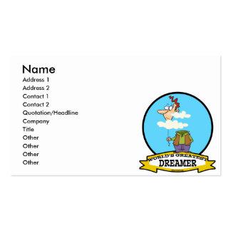 WORLDS GREATEST DREAMER MEN CARTOON BUSINESS CARD