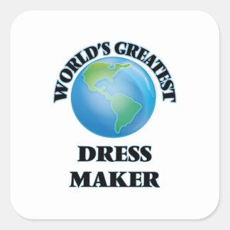 World's Greatest Dress Maker Square Sticker
