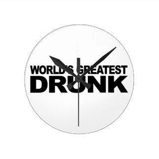 World's Greatest Drunk Round Clock