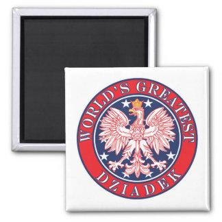 World's Greatest Dziadek 2 Inch Square Magnet