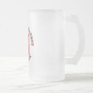 World's Greatest Dziadek Frosted Glass Beer Mug