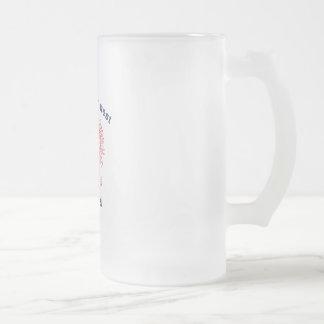 World's Greatest Dziadzi Eagle Frosted Glass Beer Mug