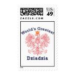 World's Greatest Dziadzia Eagle Stamps