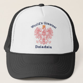 World's Greatest Dziadziu Red Eagle Trucker Hat