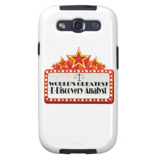 World's Greatest E-Discovery Analyst Galaxy S3 Case