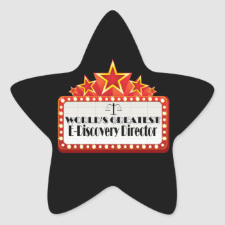 World's Greatest E-Discovery Director Star Sticker