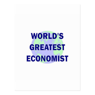 WOrld's Greatest Economist Postcard