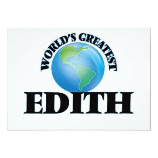 World's Greatest Edith 5x7 Paper Invitation Card