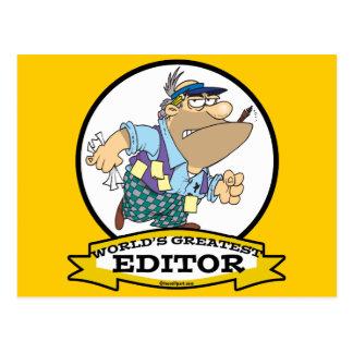 WORLDS GREATEST EDITOR CARTOON POSTCARD