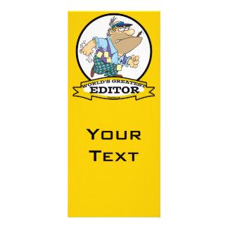 WORLDS GREATEST EDITOR CARTOON RACK CARD TEMPLATE
