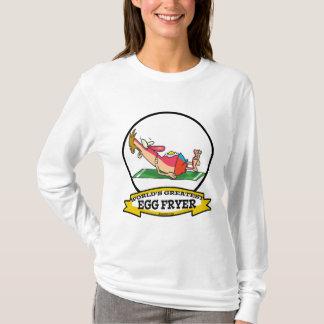WORLDS GREATEST EGG FRYER SUNBURN MAN CARTOON T-Shirt