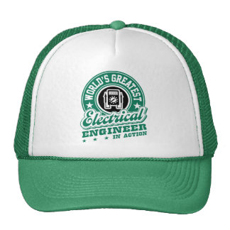 World's Greatest Electrical Engineer In Action Trucker Hat