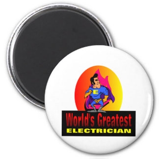 World's Greatest Electrician 2 Inch Round Magnet