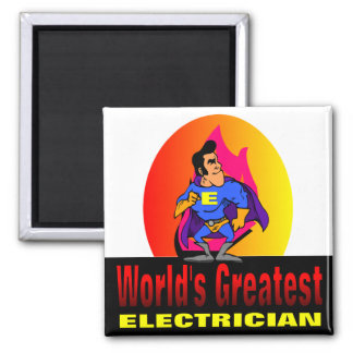 World's Greatest Electrician 2 Inch Square Magnet