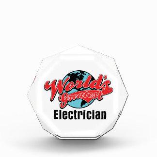 Worlds Greatest Electrician Acrylic Award