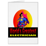 World's Greatest Electrician Greeting Card