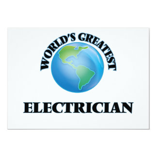 World's Greatest Electrician 5x7 Paper Invitation Card
