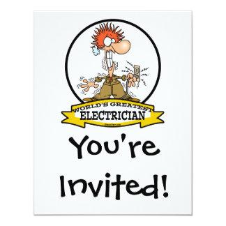 WORLDS GREATEST ELECTRICIAN MEN CARTOON CARD