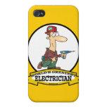 WORLDS GREATEST ELECTRICIAN MEN II CARTOON iPhone 4 CASES