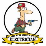 WORLDS GREATEST ELECTRICIAN MEN II CARTOON PHOTO SCULPTURES