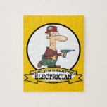 WORLDS GREATEST ELECTRICIAN MEN II CARTOON JIGSAW PUZZLE
