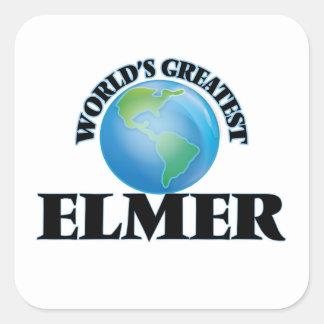 World's Greatest Elmer Square Sticker