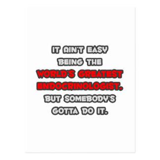 World's Greatest Endocrinologist Joke Postcard