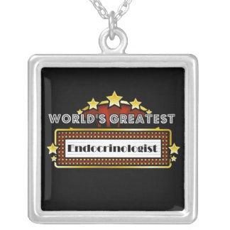 World's Greatest Endocrinologist Square Pendant Necklace