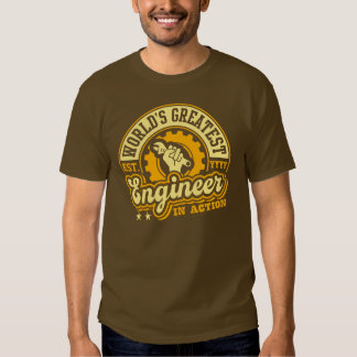 World's Greatest Engineer (EST. YEAR Customizable) T-shirt