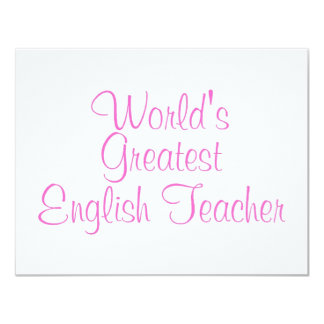 Worlds Greatest English Teacher Pink Card