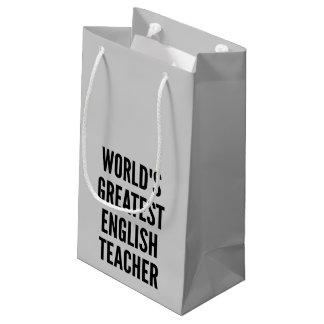 Worlds Greatest English Teacher Small Gift Bag