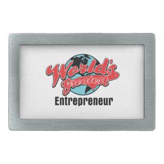 Worlds Greatest Entrepreneur Rectangular Belt Buckle
