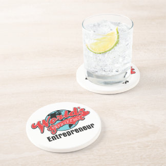 Worlds Greatest Entrepreneur Beverage Coasters