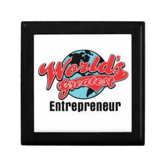 Worlds Greatest Entrepreneur Keepsake Box