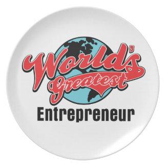 Worlds Greatest Entrepreneur Plate