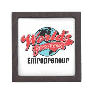 Worlds Greatest Entrepreneur Premium Jewelry Box