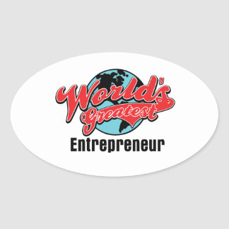 Worlds Greatest Entrepreneur Oval Stickers