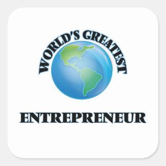 World's Greatest Entrepreneur Square Stickers