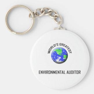 World's Greatest Environmental Auditor Basic Round Button Keychain